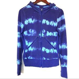 Nike Dri Fit Tie Dye Running Jacket Zip Up Hoodie